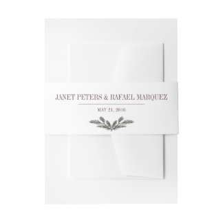 Rustic Pine Needle Bellyband Invitation Belly Band