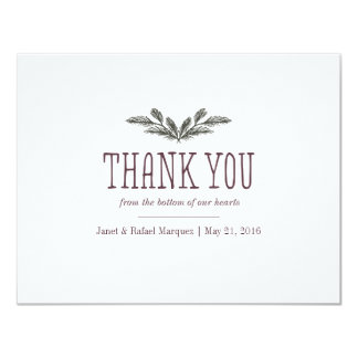 Rustic Pine Needle Thank You Card
