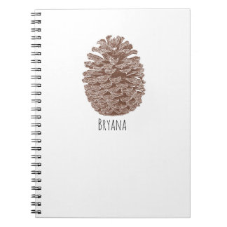 Rustic Pine Trees Simple Country Nature Notebook