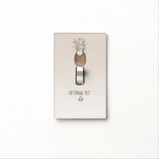 Rustic Pineapple Tropical Hawaiian Light Switch Cover