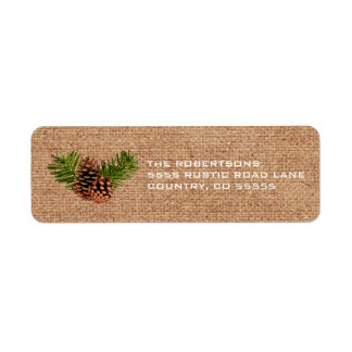 Rustic Pinecones and Branches Label