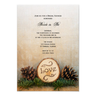 "Rustic Pines Woodland Bridal Shower Invitation 5"" X 7"" Invitation Card"