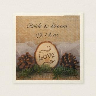 Rustic Pines Woodland Wedding Napkin