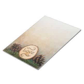 Rustic Pines Woodland Wedding Notepad