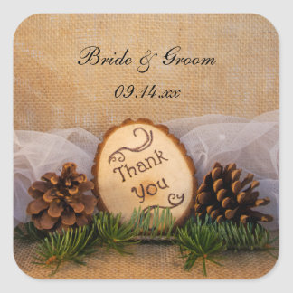 Rustic Pines Woodland Wedding Thank You Favor Tags