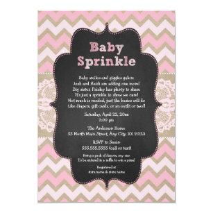 Baby girl shower invitations zazzle rustic pink baby sprinkle invite girl baby shower invitation filmwisefo