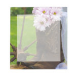 Rustic Pink Daisies and Cowboy Boots Wedding Scratch Pads