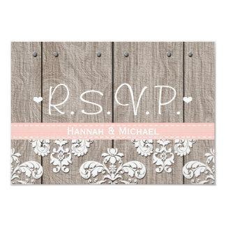 Rustic Pink Hydrangea Wedding RSVP Response Card