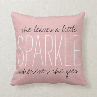 Rustic Pink Sparkle Throw Pillow