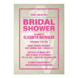 Rustic Pink & White Bridal Shower Invitations Personalized Invite