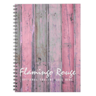 Rustic Pink Wood Vintage & Boho Chic Boutique Spiral Notebook