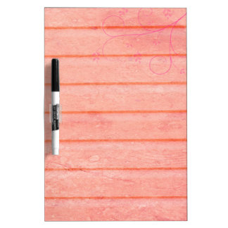 Rustic Pink Wood With Swirl Accent Memo Board