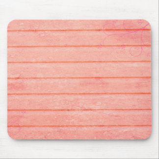 Rustic Pink Wood With Swirl Accent Mousepad