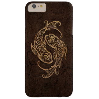 Rustic Pisces Zodiac Sign on Stone Effect Barely There iPhone 6 Plus Case