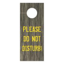 """Rustic """"PLEASE DO NOT DISTURB!""""   Faux Wood Look Door Hanger"""