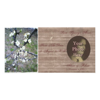 Rustic Plum Photo Save The Date Photo Greeting Card