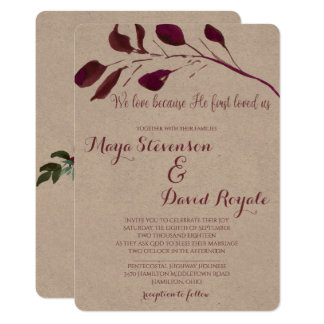 Rustic Plum | We love because He first loved us Card