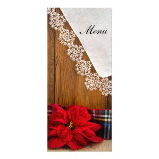 Rustic Poinsettia and Plaid Winter Wedding Menu