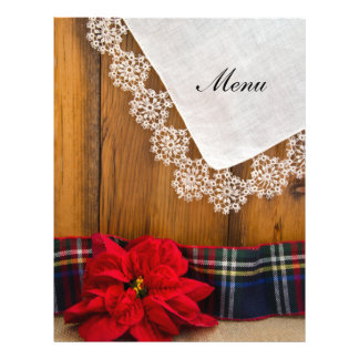 Rustic Poinsettia and Plaid Winter Wedding Menu