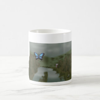 Rustic pond coffee mug