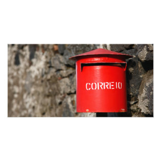 Rustic portuguese mailbox card