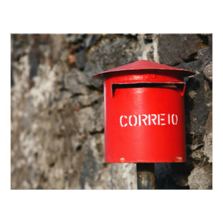 Rustic portuguese mailbox flyer