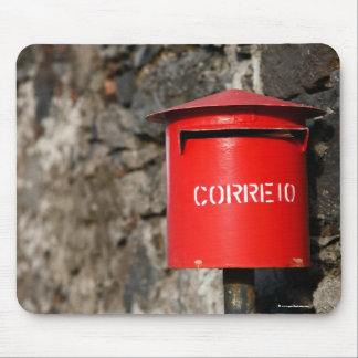 Rustic portuguese mailbox mouse pad