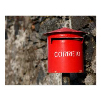 Rustic portuguese mailbox postcard