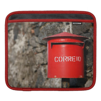 Rustic portuguese mailbox sleeve for iPads