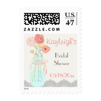Rustic Posh in Coral Postage