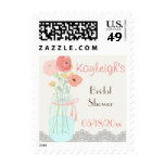 Rustic Posh in Coral Postage Stamp