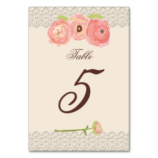 Rustic Posh in Coral Table Cards