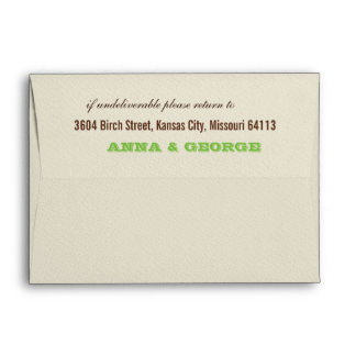 Rustic Poster: Apple Green A7 Envelopes