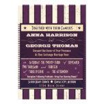 Rustic Poster: Aubergine Dream Custom Wedding Personalized Invites