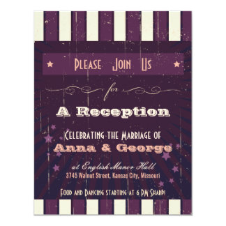 Rustic Poster: Aubergine Dream Reception Only Card
