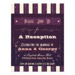 Rustic Poster: Aubergine Dream Reception Only Personalized Invite