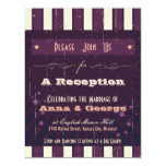 "Rustic Poster: Aubergine Dream Reception Only 4.25"" X 5.5"" Invitation Card"