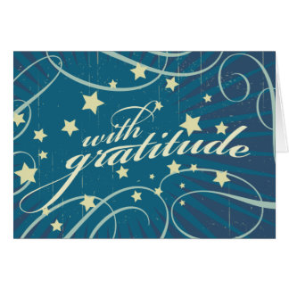 Rustic Poster: Aubergine Dream Swirls Thank You Stationery Note Card