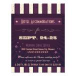 Rustic Poster: Aubergine Purple Accommodation Personalized Invites
