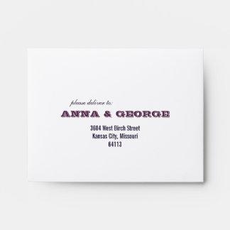 Rustic Poster: Aubergine Purple Printed A2 Envelopes