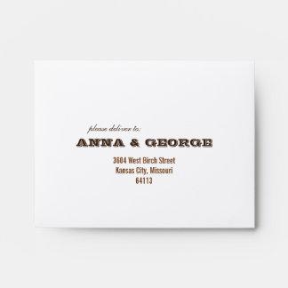 Rustic Poster: Cream & Brown Printed A2 Envelopes