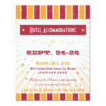Rustic Poster: Pink & Orange Accommodation 4.25x5.5 Paper Invitation Card