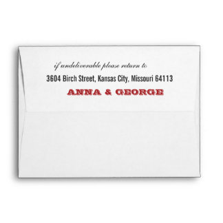 Rustic Poster: Red & Black A7 Envelope