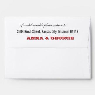 Rustic Poster: Red & Black A7 Envelopes