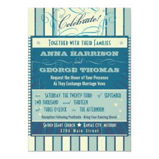 Rustic Poster: Sandy Beach Custom Wedding 5x7 Paper Invitation Card