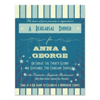 Rustic Poster: Sandy Beach Rehearsal Dinner 4.25x5.5 Paper Invitation Card