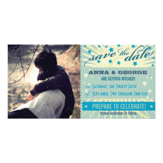 Rustic Poster: Sandy Beach Save the Date Customized Photo Card