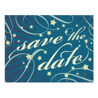 Rustic Poster: Sandy Beach Save the Date Postcard
