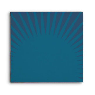 Rustic Poster: Sandy Beach Square Wedding Envelopes