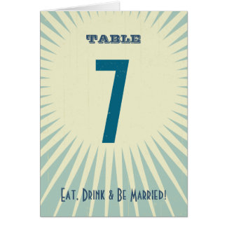 Rustic Poster: Sandy Beach Table Number Greeting Card